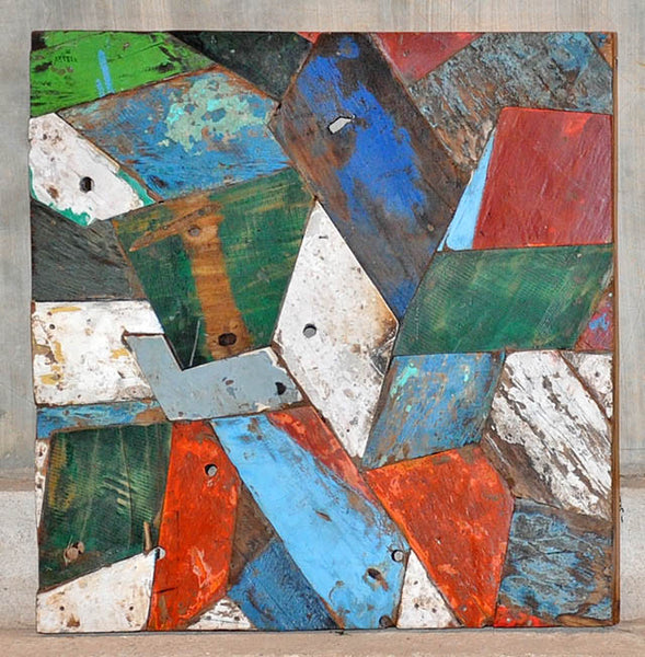 PATCHWORK TRIANGLE PANEL 24x24 - #131