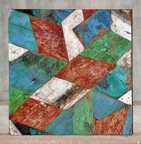 PATCHWORK TRIANGLE PANEL 24x24 - #137