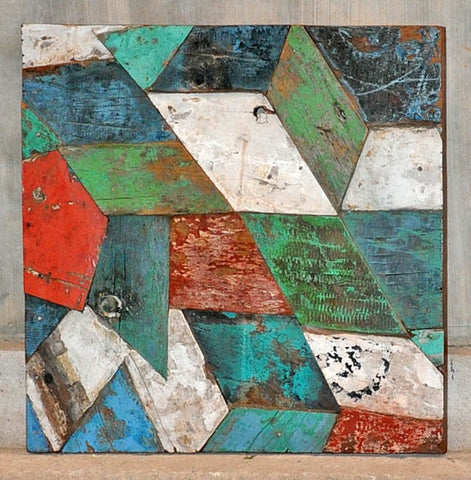 PATCHWORK TRIANGLE PANEL 24x24 - #112