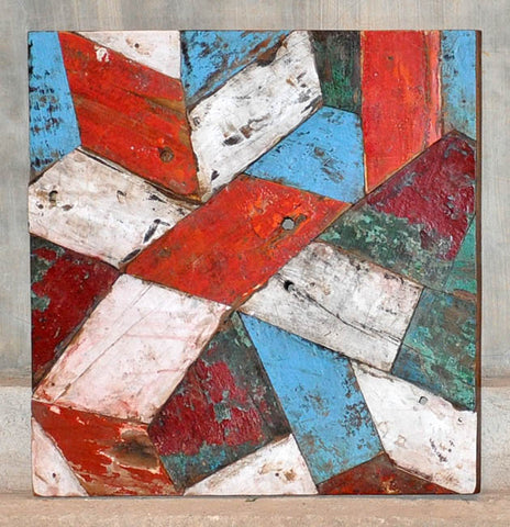 PATCHWORK TRIANGLE PANEL 24x24 - #114