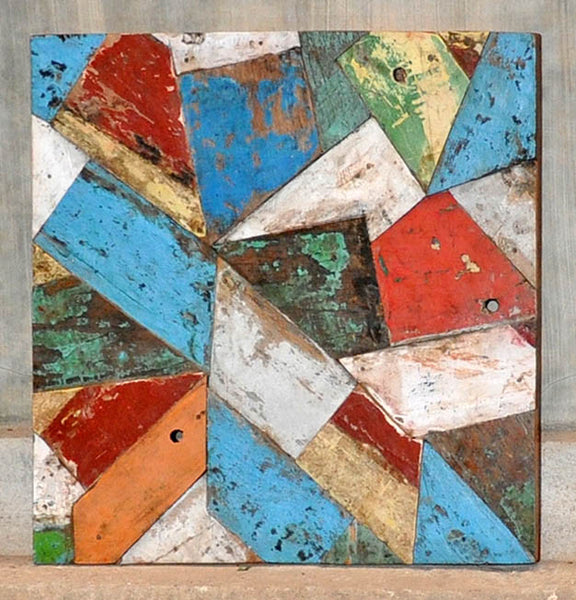 PATCHWORK TRIANGLE PANEL 24x24 - #117
