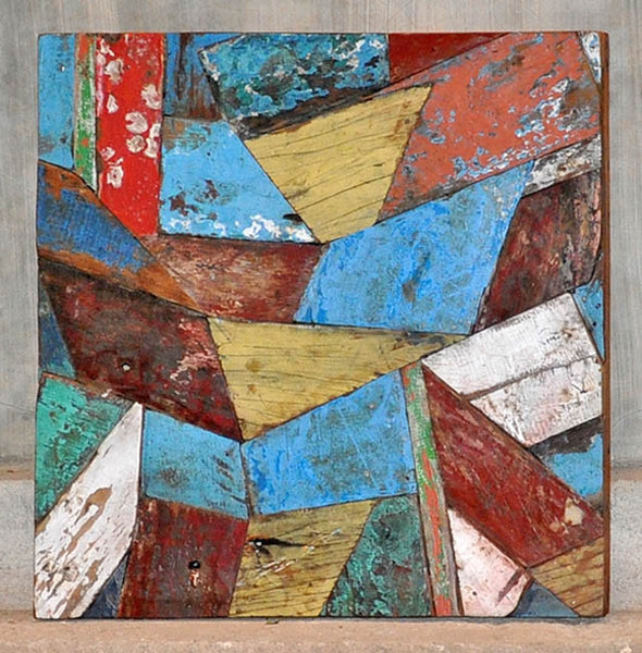 PATCHWORK TRIANGLE PANEL 24x24 - #118