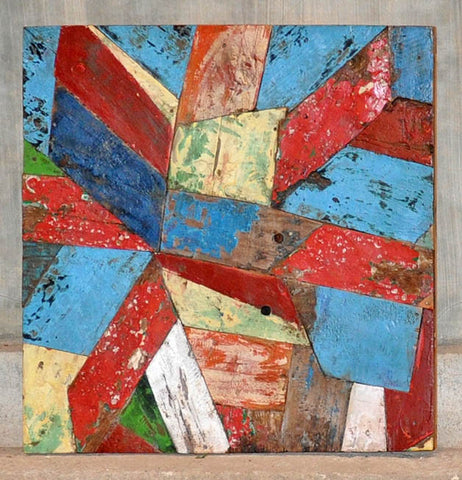 PATCHWORK TRIANGLE PANEL 24x24 - #119