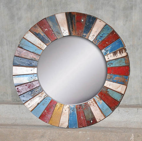 PATCHWORK MIRROR ROUND - #226