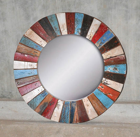 PATCHWORK MIRROR ROUND - #233