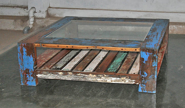 Coffee Table with Glass 47x28 - #115