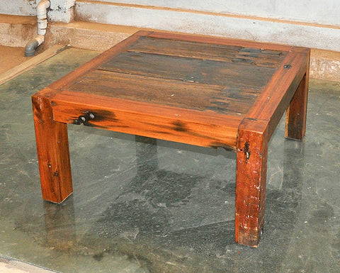 Brown Wood Coffee Table 32x32 - #109