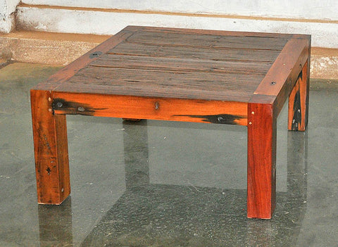 Brown Wood Coffee Table 32x32 - #105