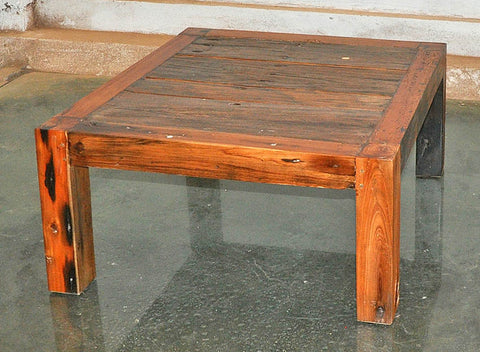 Brown Wood Coffee Table 32x32 - #106