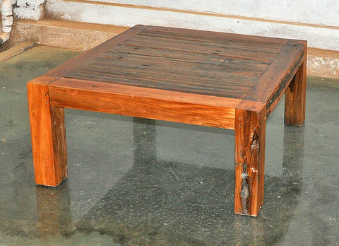Brown Wood Coffee Table 32x32 - #107
