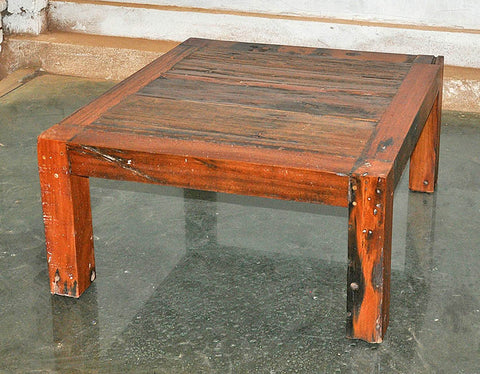 Brown Wood Coffee Table 32x32 - #104