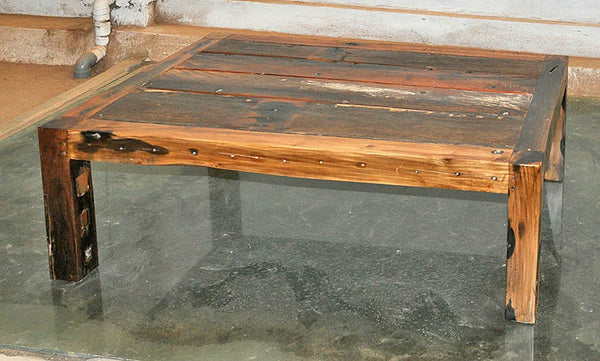 Brown Wood Coffee Table 47x32 - #101