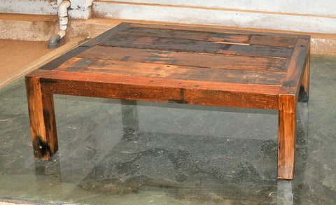 Brown Wood Coffee Table 47x32 - #107
