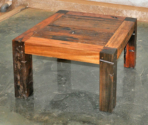Brown Wood Coffee Table 24x24 - #100