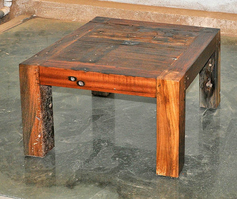 Brown Wood Coffee Table 24x24 - #102
