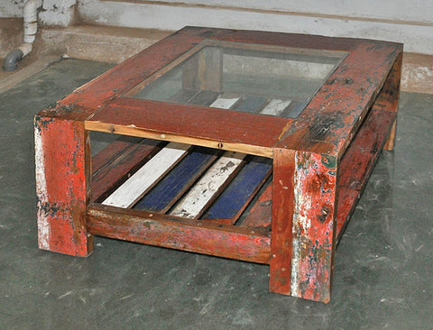Coffee Table with Glass 32x32 - #130