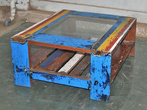 Coffee Table with Glass 32x32 - #132