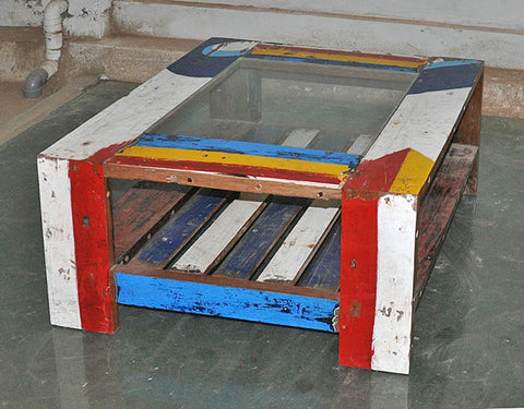 Coffee Table with Glass 32x32 - #134