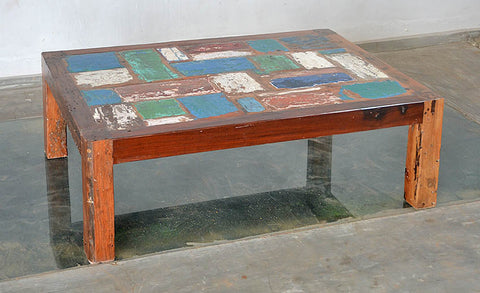 COFFEE TABLE PATCHWORK 47X32X16 - #103