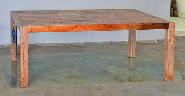 KK Brown Wood Dining Table 79x35 - #101