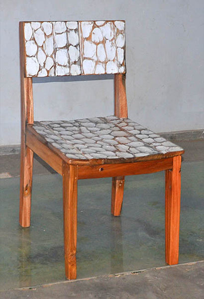 Standard Chair with White Carving - #109