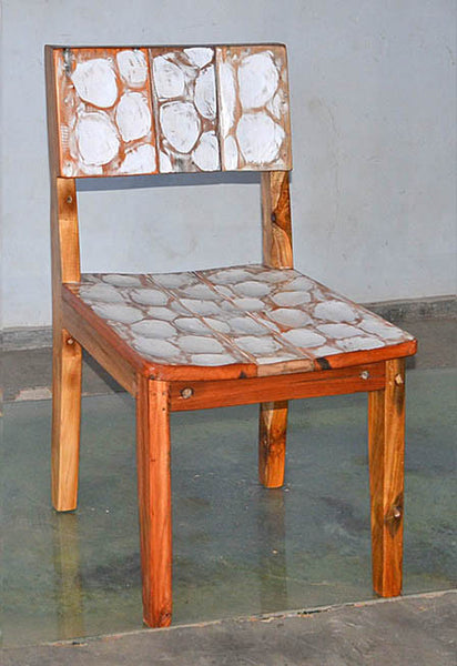 Standard Chair with White Carving - #110
