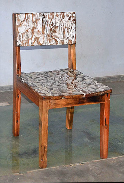 Standard Chair with White Carving - #112