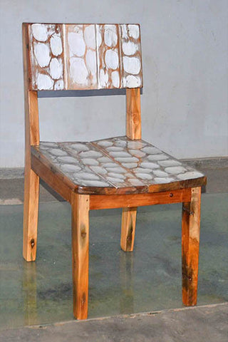 Standard Chair with White Carving - #113