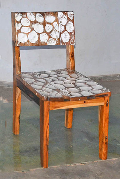 Standard Chair with White Carving - #114