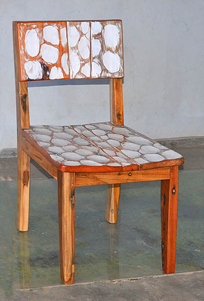 Standard Chair with White Carving - #115