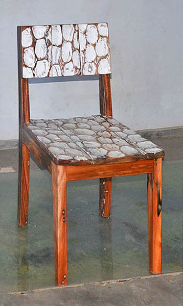Standard Chair with White Carving - #118