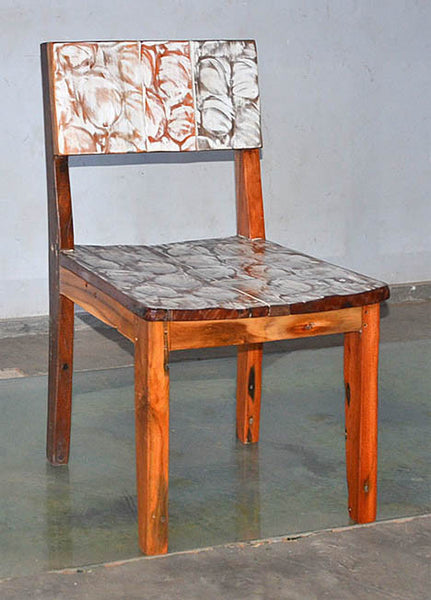 Standard Chair with White Carving - #100