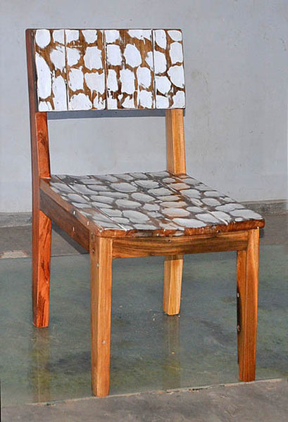 Standard Chair with White Carving - #125