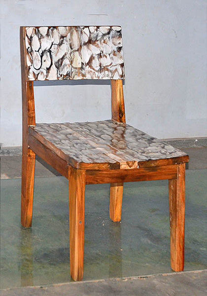 Standard Chair with White Carving - #127