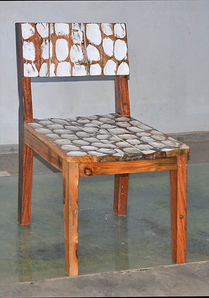 Standard Chair with White Carving - #128