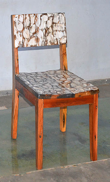 Standard Chair with White Carving - #101