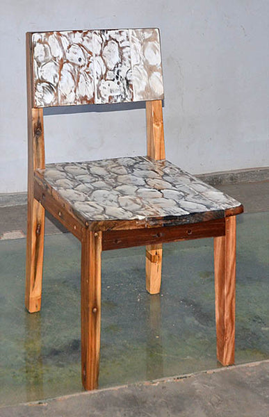 Standard Chair with White Carving - #130