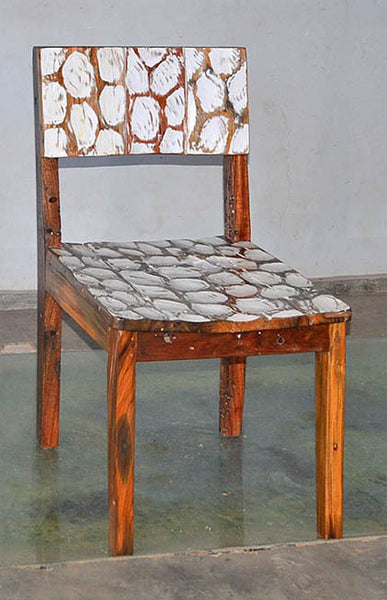 Standard Chair with White Carving - #140