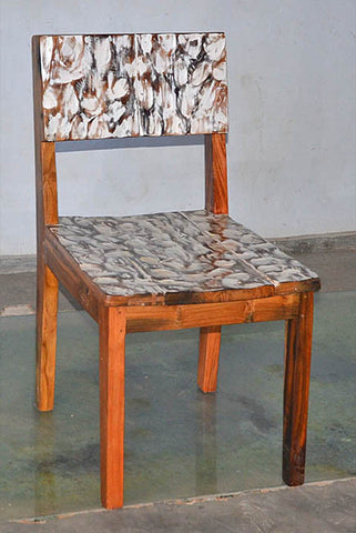 Standard Chair with White Carving - #103