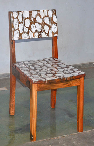 Standard Chair with White Carving - #104