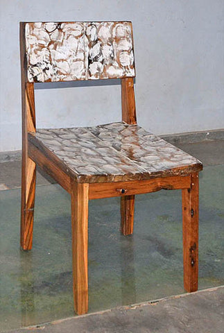 Standard Chair with White Carving - #105