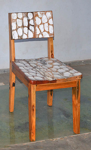 Standard Chair with White Carving - #107