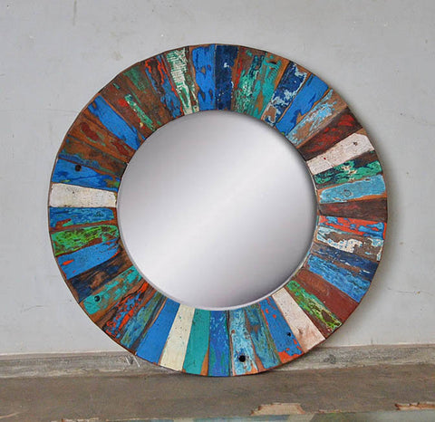 PATCHWORK MIRROR ROUND - #256