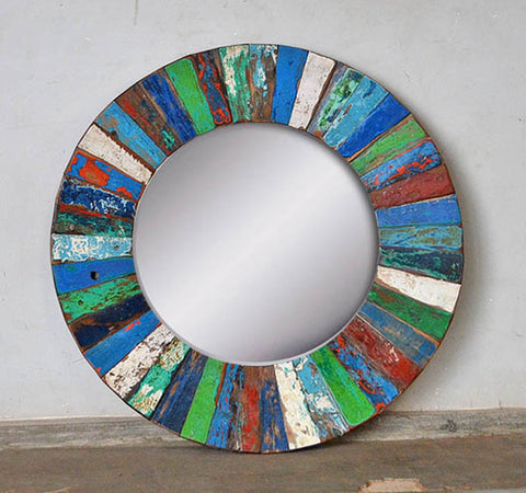 PATCHWORK MIRROR ROUND - #257