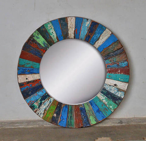 PATCHWORK MIRROR ROUND - #258