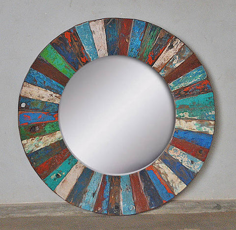 PATCHWORK MIRROR ROUND - #261