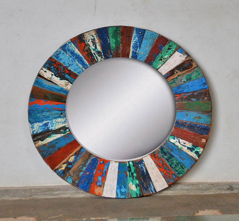 PATCHWORK MIRROR ROUND - #262