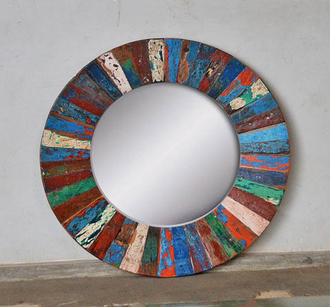 PATCHWORK MIRROR ROUND - #263