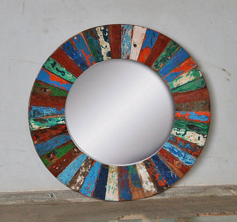 PATCHWORK MIRROR ROUND - #264
