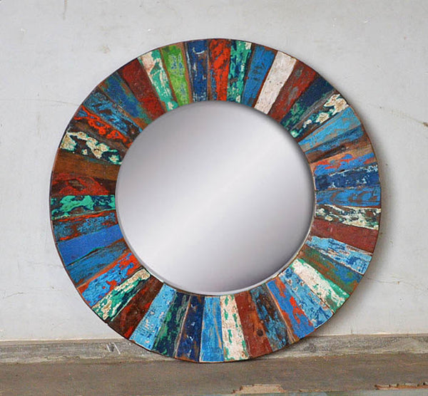 PATCHWORK MIRROR ROUND - #265